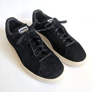 NEW Puma Suede Classic Black White Sneakers Shoes